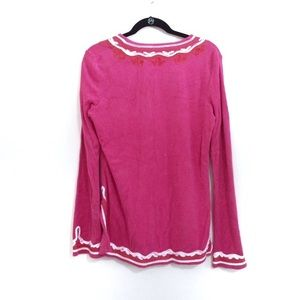 Tory Burch Tops - Tory Burch Pink Embroidered Boho Terrycloth Tunic